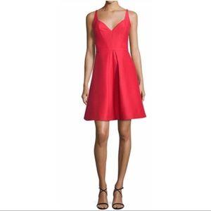 Halston heritage sweetheart neckline A line dress